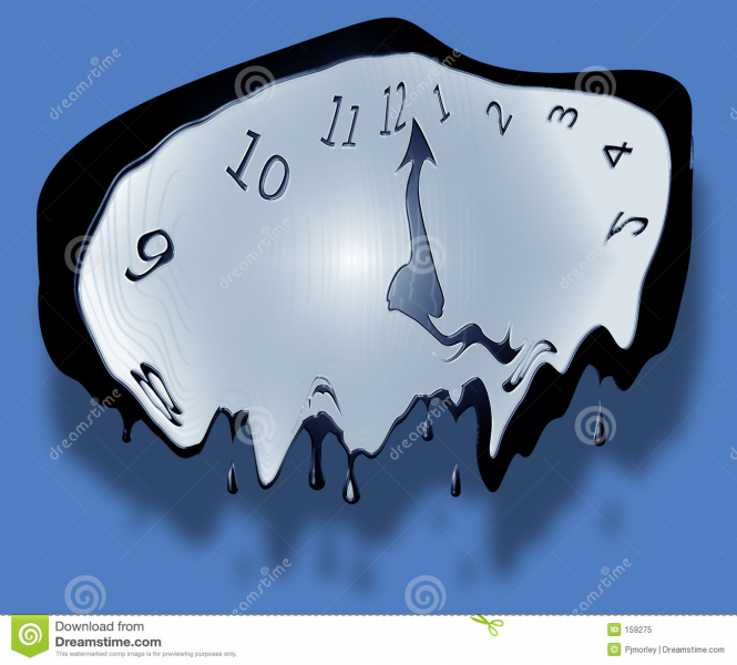 Melting Clock Royalty Free Stock Photo - Image: 159275