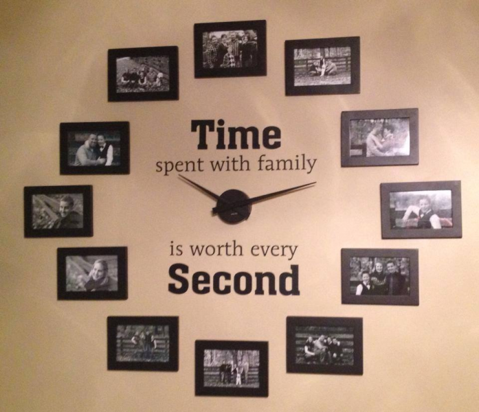family photo wall clock-wonderfuldiy4