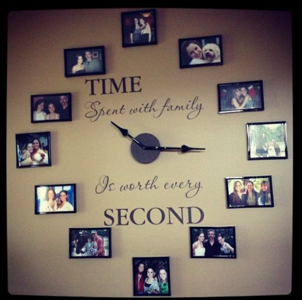Time spent with family wall clock | Inside | Pinterest