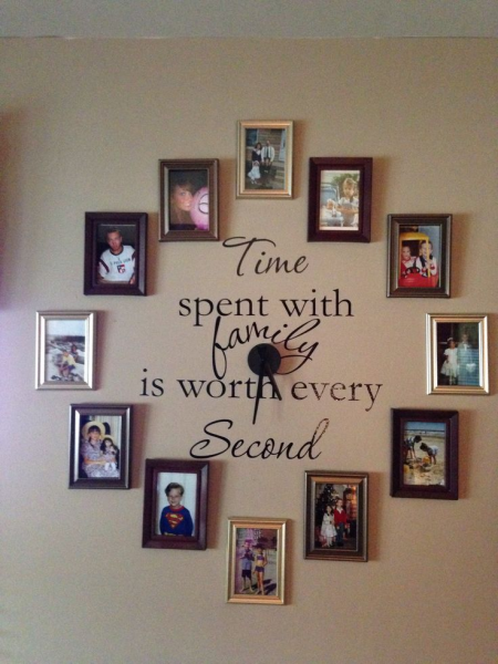 Family Photo wall clock | Home ideas | Pinterest