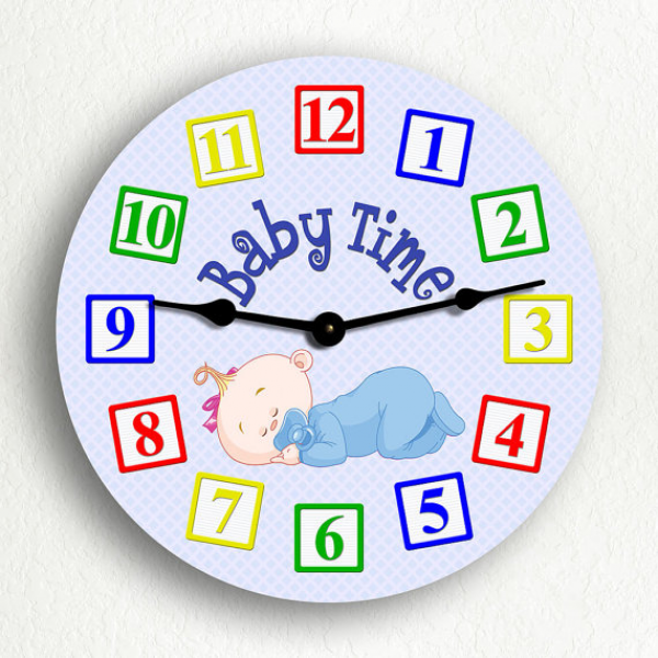 Baby Time Boy Cute 61012 Silent Wall Clock by ClassicalCreations