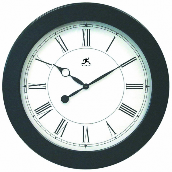 38 oversize wall clock large black framed wall clock featuring a white ...