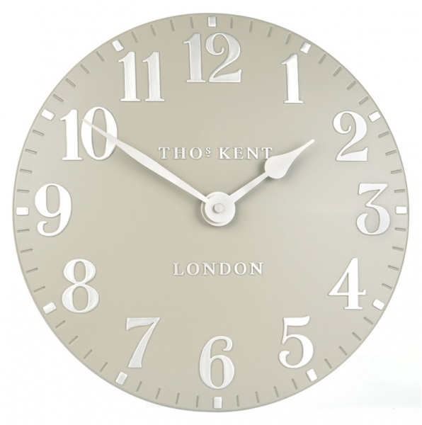 Thomas Kent Clocks | Arabic Cool Mink Wall Clock 12 / 30cm - Clocks ...