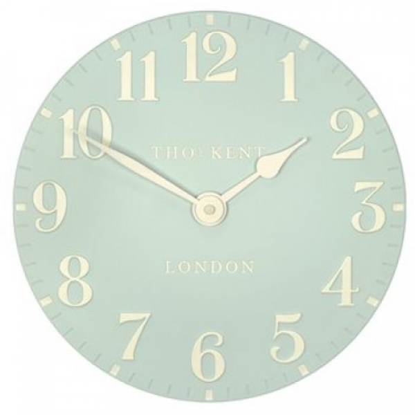 Thomas Kent Arabic 12 Wall Clock Duck Egg CK12056