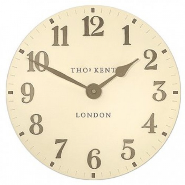 Thomas Kent Arabic 12 Wall Clock Cream B4GC