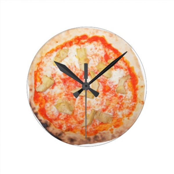 Italian Artichoke Pizza Pizza Carciofi Vegetables Wall Clocks | Zazzle