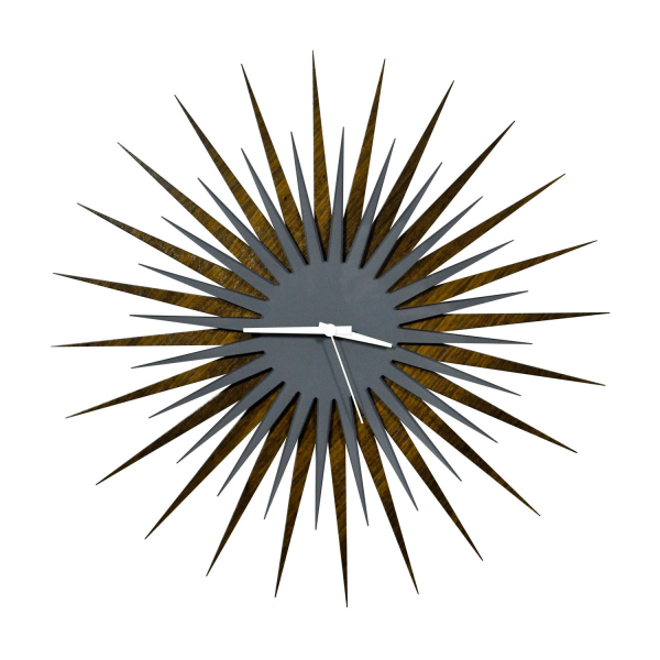 Wall Art Objects For Sale | Midcentury Modern Starburst Clock 'White ...