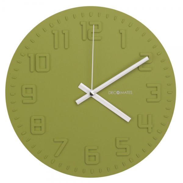 Decomates Home Kitchen Non Ticking Silent Wall Clock Assorted Colors ...