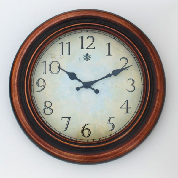Ashton Sutton James 17 in. Metal Wall Clock with Copper Finish - Wall ...