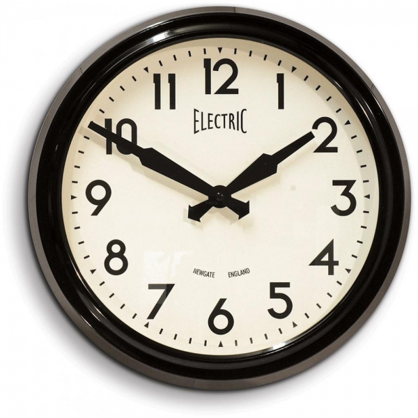 ... Wall Clocks › Newgate Clocks › Newgate Clocks 50's Electric Black