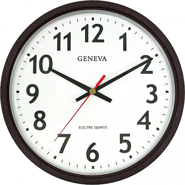 Geneva Electric Wall Clock, Black - Walmart.com