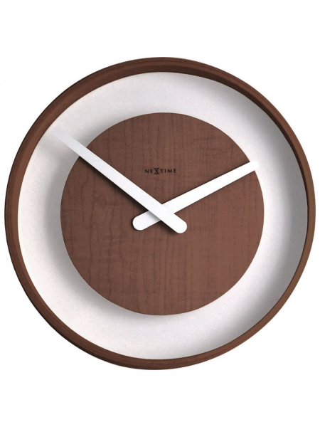 Back Home Clocks NeXtime Wall Clocks 3046br Wood Loop Wall Clock