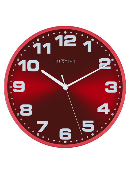 Clocks NeXtime Wall Clocks 3053ro Dash Red Wall Clock