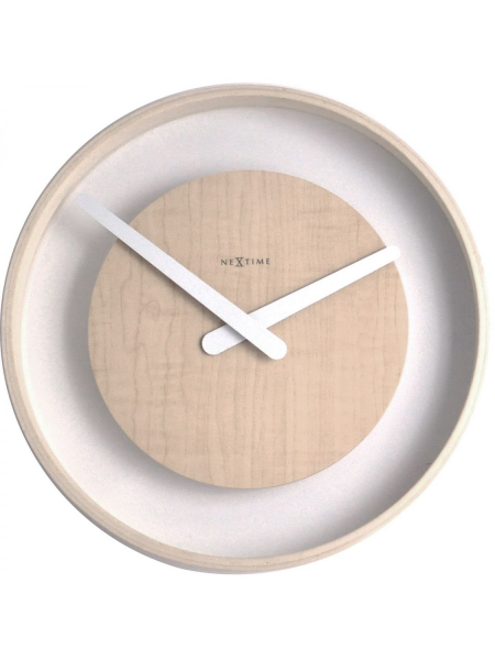 Back Home Clocks NeXtime Wall Clocks 3046 Wood Loop Wall Clock