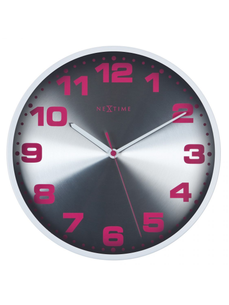 Back Home Clocks NeXtime Wall Clocks 3053wi Dash White Wall Clock