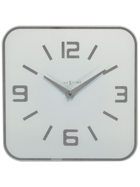 Clocks NeXtime Wall Clocks 8149wi Shoko White Wall Clock