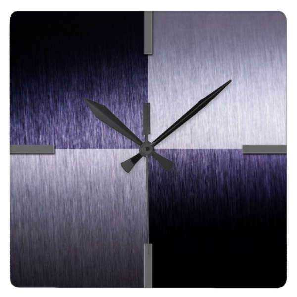Abstract Modern Brushed Metal - Wall Clock | Zazzle