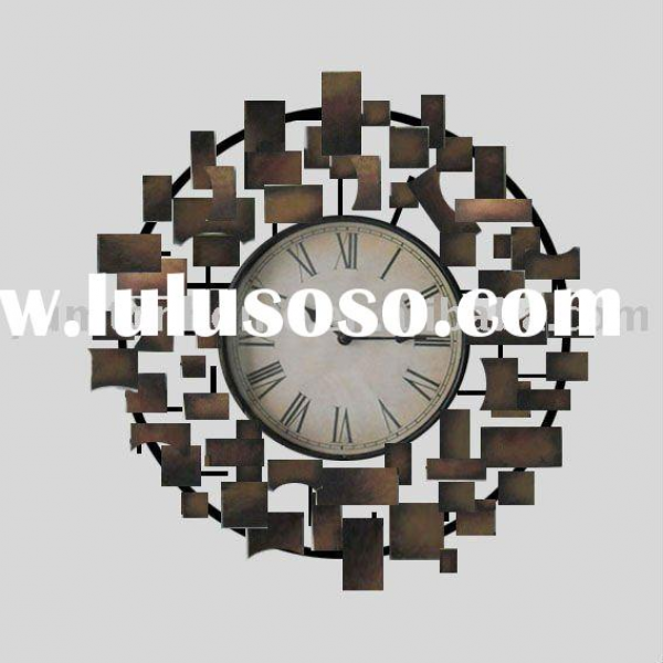 Abstract Metal Wall Clock...
