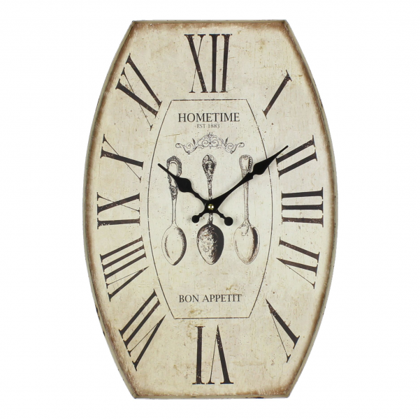 Contemporary Oval Savour Metal Wall Clock