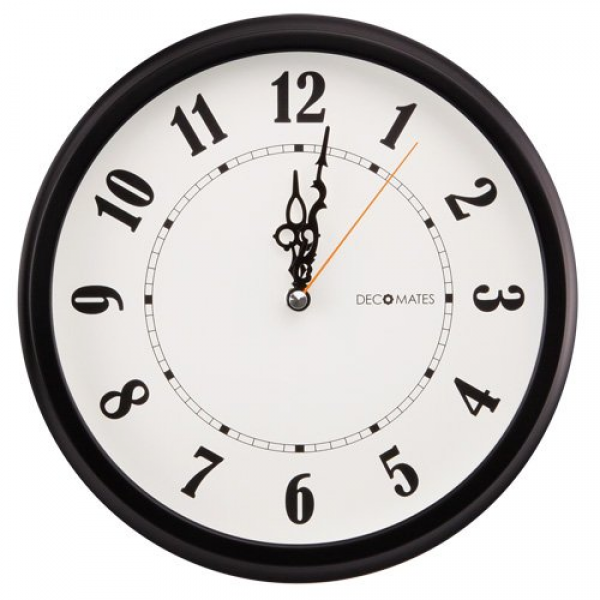 Unity Fradley Silent Sweep Non-Ticking Modern Wall Clock, 12-Inch ...
