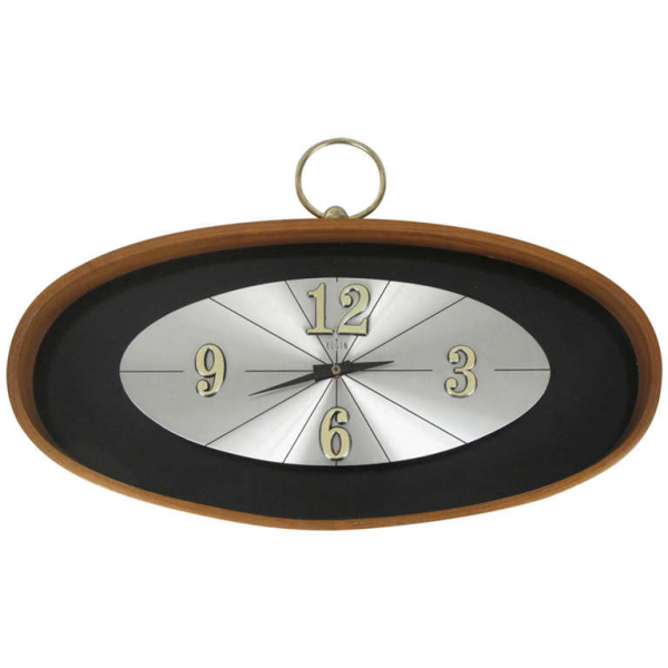 Mid Century Elgin Battery Operated Wall Clock at 1stdibs