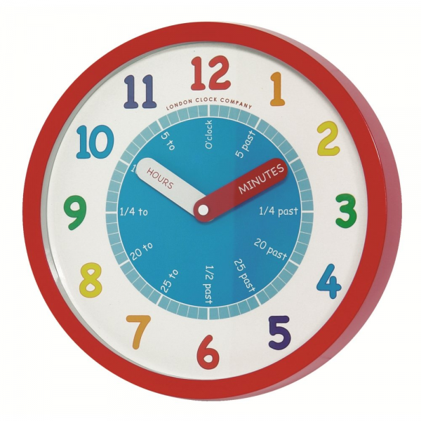 London Clock Co Children's Learning Red Wall Clock - London Clock Co ...