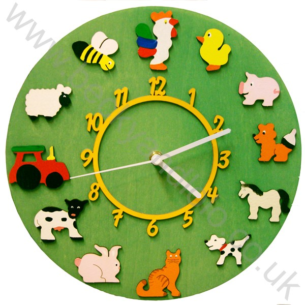 Children's Wall Clocks, Farm Wall Clocks | Becky & Lolo