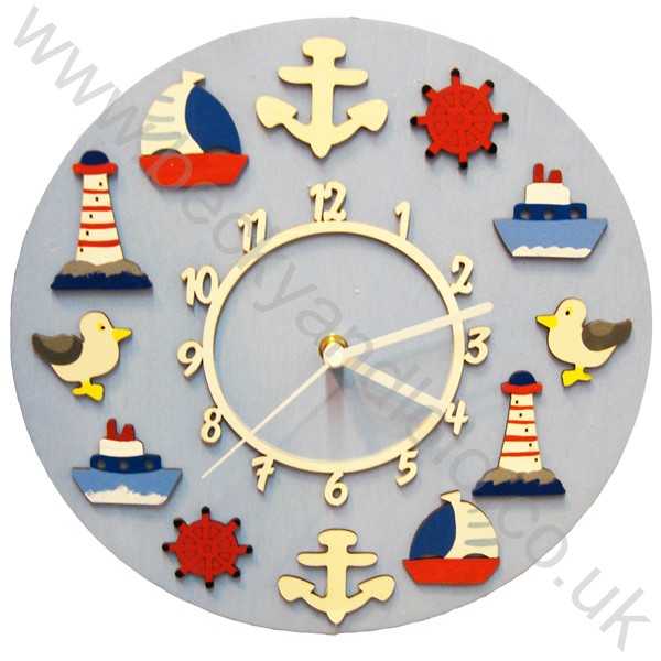 Children's Wall Clocks, Kids Wall Clocks Nautical | Becky & Lolo