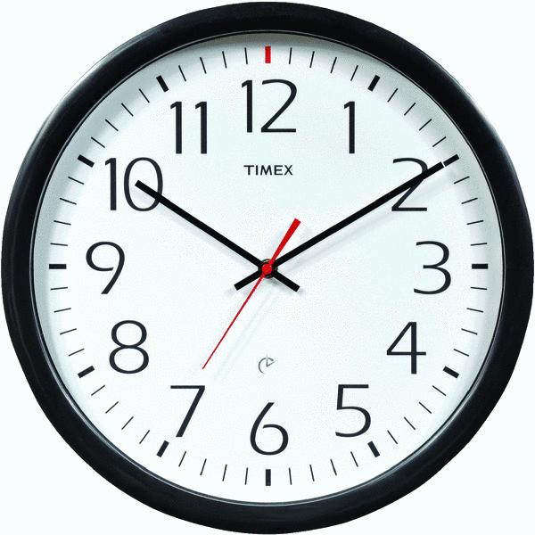 Chaney Instrument 46004T Set And Forget Office Wall Clock Black at ...