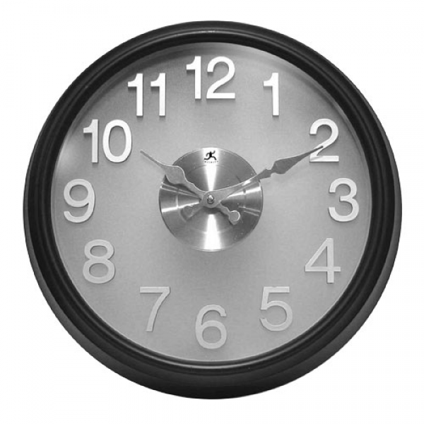 The Onyx Wall Clock Infinity Instruments Wall Mounted Clock Clocks ...