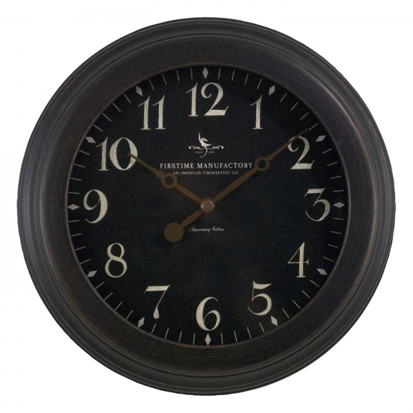 FirsTime Manufactory 25631 Black Onyx Wall Clock | ATG Stores