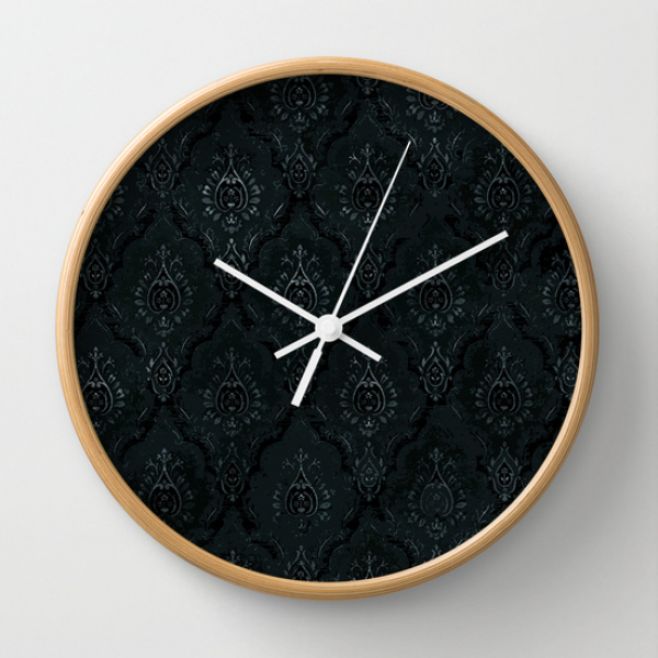 Victorian Onyx Wall Clock by Dvdesign | Society6