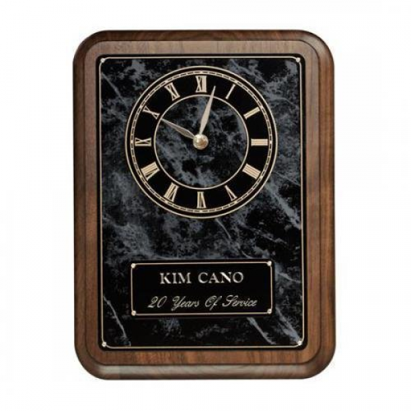 Black Onyx Wall Clock Plaque Wall Clock Plaques