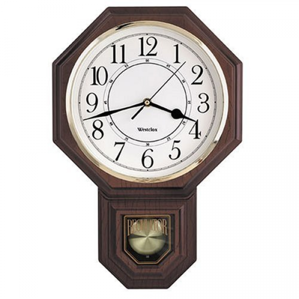 Amazon.com - Westclox Dartmouth Pendulum Wall Clock -