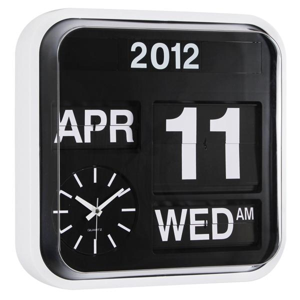 ... Office Contemporary Flip Day Date Month Year Wall Clock » Posh Clocks