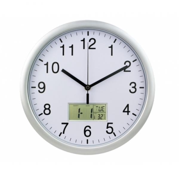 At A Glance Day/Date Wall Clock
