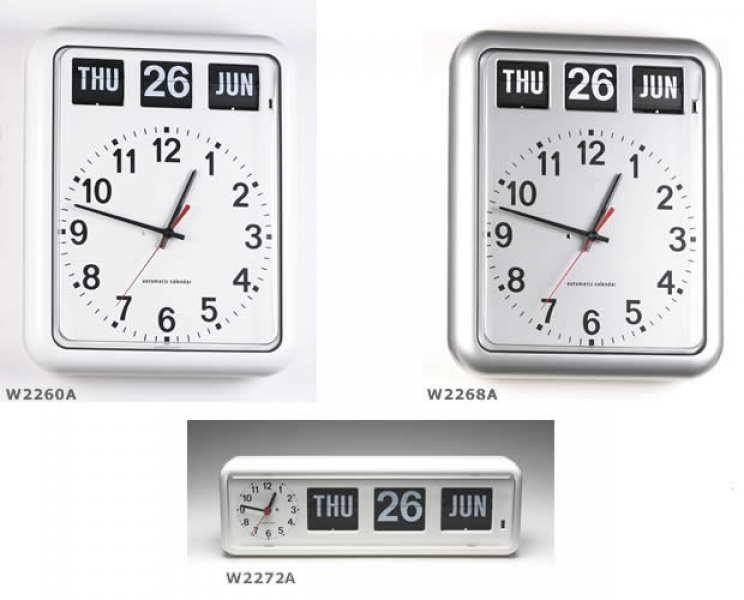 W2272A - BQ38 analog calendar day date clock