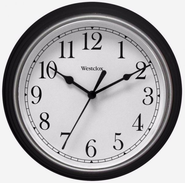 New Westclox Black 8 1 2 Quartz Wall Clock Battery Operated 46991A ...