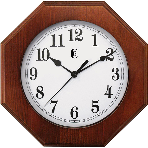 Geneva 9 Inch Wooden Quartz Wall Clock Battery Operated NEW Free US ...