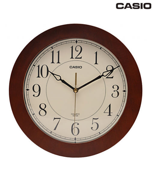 Buy Casio Brown & White Round Wall Clock @ Best Prices | Snapdeal