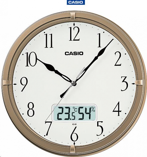 Clocks - Casio Analog and Temperature Gauge Wall Clock (IC-02-9DF ...