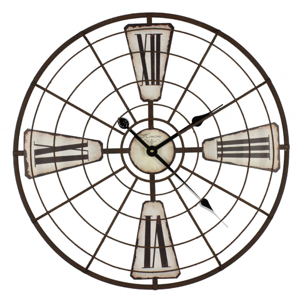 Giant Modern Wall Clock Metal Frame - Arctic Design