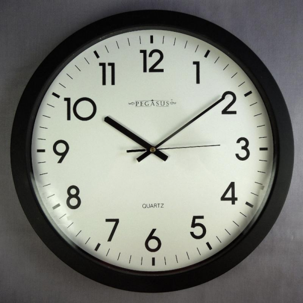 Details about PEGASUS LARGE ROUND WALL SCHOOL CLOCK TESTED WORKING