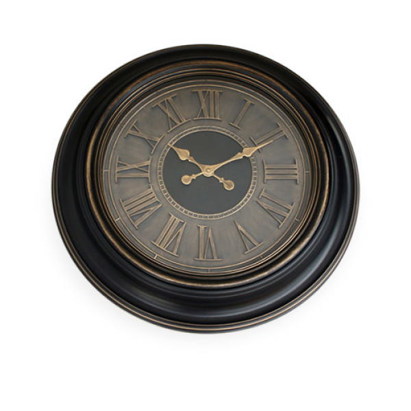 Antique Round Wall Clock Roman Black - On Sale Now!