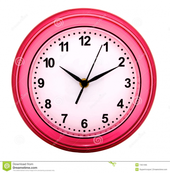 Round Wall Clock Royalty Free Stock Photo - Image: 7451495