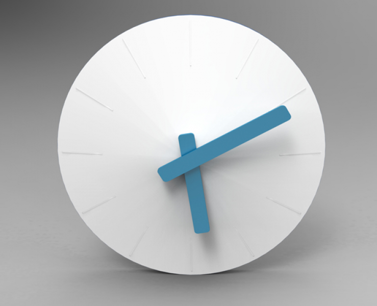 The simplixity, large size and innovative wall clock design idea make ...