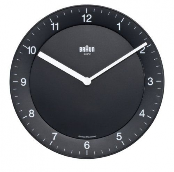 Braun BNC006 Black Quartz Wall Clock | Awesome Clocks | Pinterest