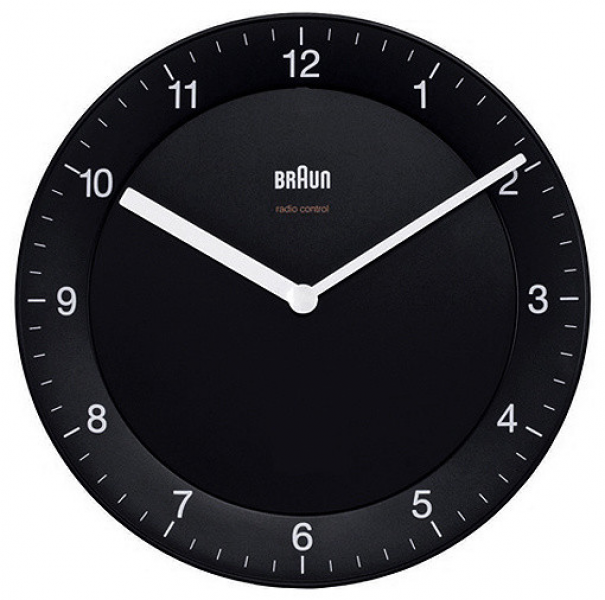 Braun Quartz Black Wall Clock - Modern - Wall Clocks - other metro ...
