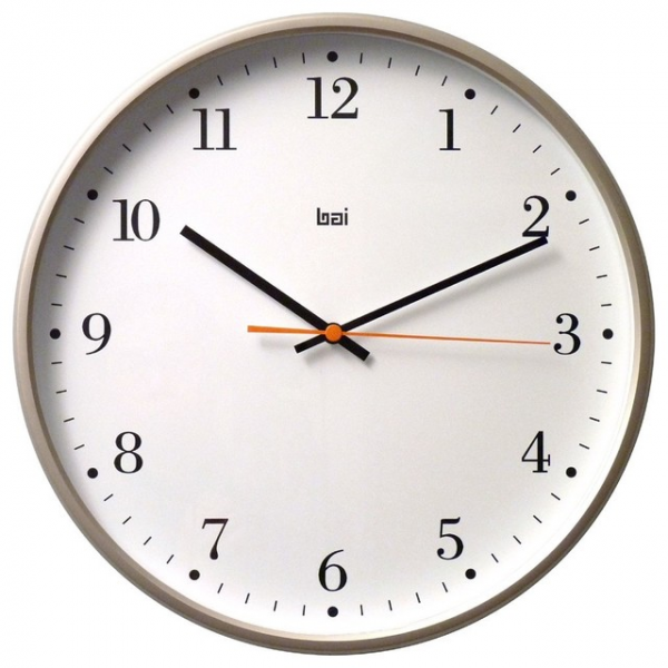 Bai Jumbo Wall Clock, Bodoni Titanium - Contemporary - Wall Clocks ...