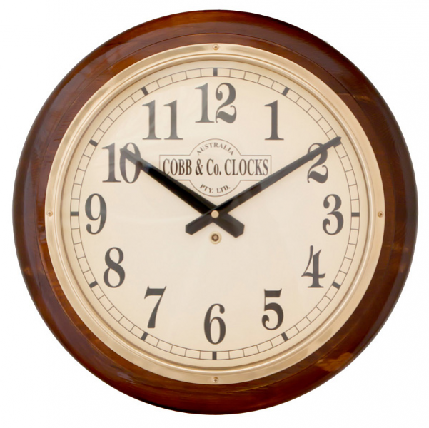 ... Clocks > Clocks > COBB & Co. Large Railway Wall Clock, Arabic Numerals